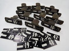 12 Metal Store Price Display Clips PLUS 24 Price Tags - Vintage Mercantile Shop Price Clips by UrbanRenewalDesigns on Etsy