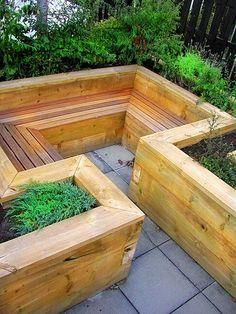 Raised planters/seating