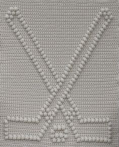 Hockey Baby Blanket Pattern - Crochet Pattern - Crochet Baby Blanket - Baby Snuggle Blanket - Car Seat or Stroller Blanket Crochet For Beginners Blanket, Crochet Patterns For Beginners, Crochet Blanket Patterns, Baby Blanket Crochet, Crochet Baby, Knitting Patterns, Easy Patterns, Crochet Ideas, Bobble Crochet