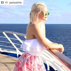 New prints, new styles! Flamingo is only one of the gorgeous prints in the @PartySkirts new Spring 2016 Collection! In love with the way co-designer @marielarmstrong is rockin' this! Head over to their site to checkout all the skirts... #CovetBrands #PartySkirts #CovetFashion