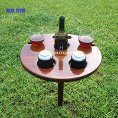 Wine Glass Holder, Wine Bottle Holders, Cup Holders, Beer Bottle, Outdoor Drink Holder, Outdoor Tables, Outdoor Decor, Outdoor Furniture, Beer Table
