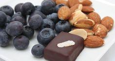 VEGAN DARK CHOCOLATE BLUEBERRY ALMOND 6-PIECE BOX by NICOBELLA ORGANICS on @UDKitchen http://undiscoveredkitchen.com a digital farmers' market for specialty, small batch food!