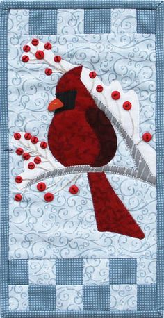 Patch Abilities Inc.  Original Pattern Design  MM801 Winter Cardinal www.patchabilities.com