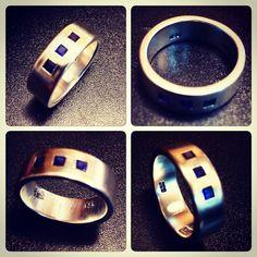 Anillo de Plata con Safiros, diseño personalizado / Silver ring with Saphires, custom design / #hechura #joyeria #hechoamano #anillo #safiro #ring #jewelry #handmade #silver #sterlingsilver #saphire