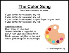 Use these color songs for kids to have a fun and magical way to learn more about colors. Use color songs for preschool, for circle time, and more. Kindergarten Songs, Preschool Songs, Preschool At Home, Preschool Classroom, Preschool Learning, Circle Time Activities Preschool, Songs For Preschoolers, Childcare Activities, Songs For The Classroom