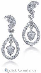 Delicate Duchess Wedding Earrings