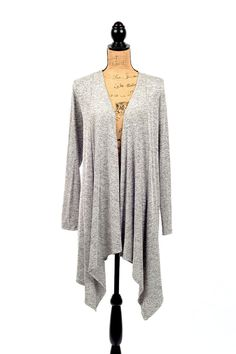 Lounging Around Cardigan - Ivory Gray | Lush clothing, Open ...