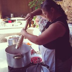 Cooking (class) with Koula. Crete, Greece.