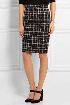 Boutique Moschino   Wool-blend bouclé-tweed skirt   NET-A-PORTER.COM