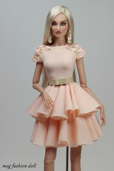 New outfit for Kingdom Doll & Deva Doll & Fashion Royalty Dolls, Fashion Dolls, Fashion Dresses, Barbie Gowns, Barbie Dress, Barbie Outfits, Sewing Barbie Clothes, Barbie Fashionista Dolls, Casual Chique