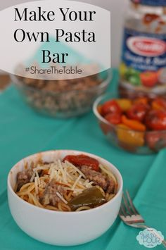 I can make everyone happy with this make your own pasta bar for dinner! #sharethetable #spon #pasta