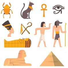 Egypt travel vector icons. Travel Infographics. $5.00