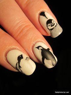 uñas de pinguino