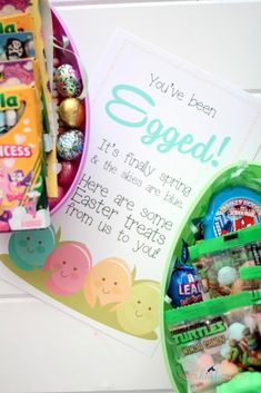 Easter is just about a week away. Around here that also means it's Spring Break and what better way to kick of the week than egging your neighbors?!? Now don't go raiding the refrigerator just yet, I'm not talking about THAT kind of egging. I am talking about leaving fun treats on your...