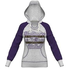 Majestic Baltimore Ravens Women's Gray O.T. TD IV Pullover Hoodie