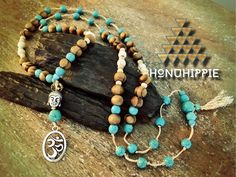Boho Hippie Mala tassel necklace, buddha head om yoga jewelry by HonuHippie on Etsy https://www.etsy.com/listing/268540144/boho-hippie-mala-tassel-necklace-buddha