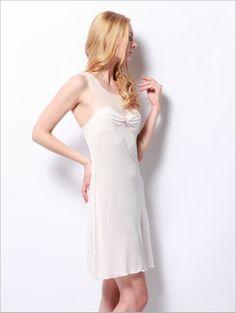 Sllg0032Champagne,Silk Elegant French Backless Evening Dress - Pajama & Lounge,$158.98,