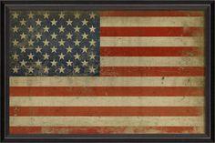 Framed American Flag Art