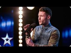 "26-year-old Calum was so nervous his hand is shaking uncontrollably as he sings a cover of ""Dancing on my Own"" by Robyn.  Simon hits the golden buzzer and sends him straight into the live shows. What an amazing audition!"