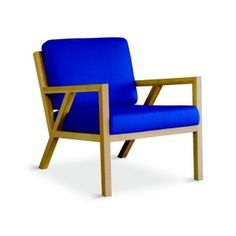 Truss Chair by Gus Modern. Inspired by the work of the Sarasota School of Architecture and at home in both modern and traditional spaces, this mid-century styled chair features a solid natural oak frame with an interlocking truss base and finger joint detailing on the arms.