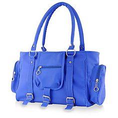 Chhavi Blue Plain Handbag: Buy Chhavi Blue Plain Handbag Online at best Prices from ShopClues.com