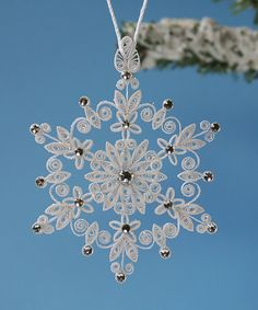 "Stunning Sparkler - ""Lighting up the World"" Stellar Dendrite Snowflake – Quilled…"