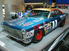 1967. Mario Andretti. 1967 Ford Fairlane. Nascar Autos, Nascar Cars, Nascar Racing, Auto Racing, Ford Stock, Mario Andretti, Ford Torino, Racing Helmets, Old Race Cars