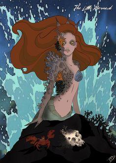 Twisted Disney Princesses Ariel | Twisted Ariel by Kasami-Sensei