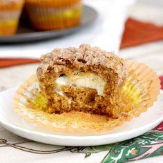 Pumpkin Cream Cheese Muffins by Tracey's Culinary Adventures  | Pumpkin recipes, pumpkin desserts