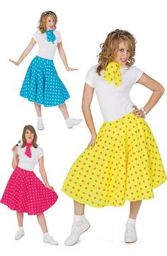 Adult Polka Dot Sock Hop Skirt - Candy Apple Costumes - Most Popular