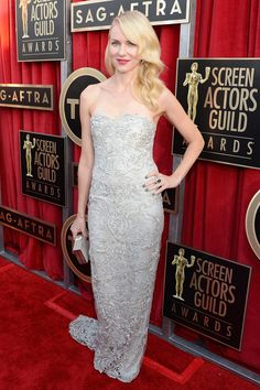2013 Screen Actors Guild Awards Red Carpet #NaomiWatts #Marchesa