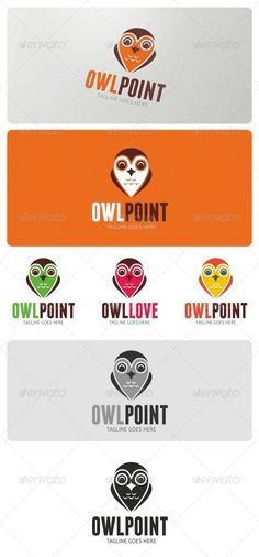 Owl Point Logo  #GraphicRiver         Owl Point Logo can be suitable for a many business areas such as: design, wildlife organization, pet shops,