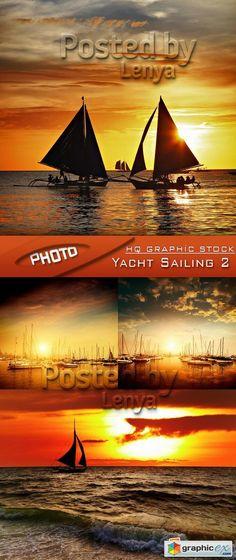 Stock Photo  Yacht Sailing 2  stock images