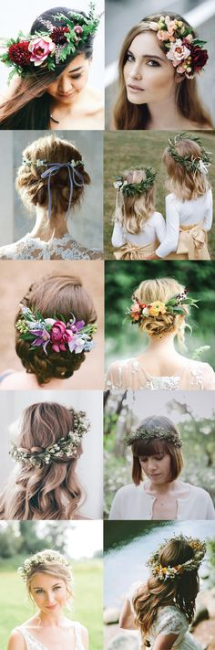 Coiffure mariage : 5 Ways to Style Your Wedding Hair Up! Flower crowns, ribbon back ties, and more!… Coiffure mariage : 5 Ways to Style Your Wedding Hair Up! Flower crowns ribbon back ties and more! Flower Crown Wedding, Wedding Hair Flowers, Flowers In Hair, Flower Crowns, Wedding Ribbons, Wedding Wreaths, Hair Ribbons, Flower Girls, Floral Wedding
