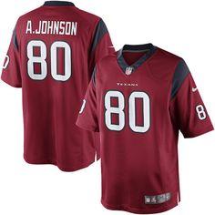 Mens Nike Limited Houston Texans http://#80 Andre Johnson Alternate Red NFL Jersey$89.99