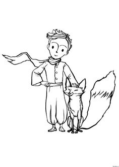 The Fox and The Little Prince coloring page is such a cute illustration to decorate and give to a freind or one of your parents. The Little Prince French, Little Prince Fox, Prince Drawing, Coloring Books, Coloring Pages, Little Prince Tattoo, Prince Tattoos, Disney Fantasy, Tatoo Art