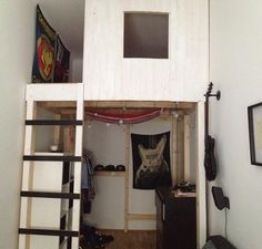 i built this loft bed for a friend of mine Ladder Decor, Loft, Diy Projects, Bed, Home Decor, Decoration Home, Stream Bed, Room Decor, Lofts