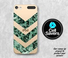 Marble Clear iPod 5 Case iPod 6 Case iPod 5th Generation iPod 6th Generation Rubber Case Gen Clear Case Green Marble Chevron Pattern Tumblr