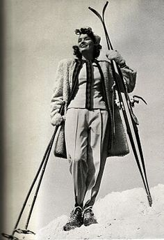 The Painted Woman: 1930s Beauty & Glamour: 1930s Ski & Snow Fashions Pt. II