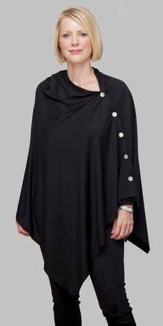 Merino Wool Cape | Women's Merino Clothing | New Zealand | NZ Wool Cape, Merino Wool, Fashion Accessories, Wraps, Tunic Tops, Plus Size, Button, Clothing, How To Wear
