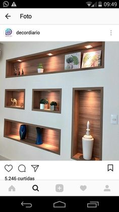Diy Best Home Decor Diy Best Home Decor – Home Decor İdeas Modern Niche Design, Tv Wall Design, Wall Shelves Design, Ceiling Design, House Design, Living Room Wall Units, Living Room Designs, Living Room Decor, Living Room Partition Design