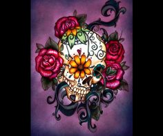 Sugar Skull ~ the colors are so beautiful