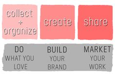 do what you love, build your brand, market your work Successful Business Tips, Build Your Brand, Business Marketing, The Creator, Coaching, About Me Blog, Branding, Fitness, Ideas