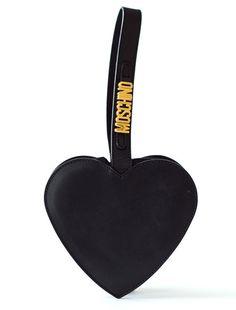 vintage 1980s MOSCHINO black leather heart by shopcaramiavintage  ~~~  <3