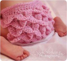 Free Baby Crochet Diaper Cover | crochet pattern - crocodile stitch diaper cover, ... | Crochet someth ...