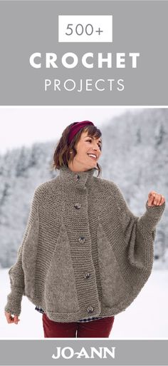 Whether you choose to create cozy throw blankets, storage containers, or handmade accessories, there are so many reasons to love these 500+ Crocheting Projects. That's why this collection of DIY activities is great for practicing your creativity this winter.