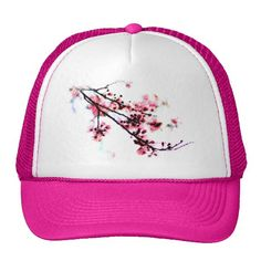 #Cherry #Blossom #Painting #Hats #sold