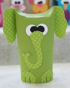 Dr. Seuss activities: T.P tube elephant. Do for Horton. Glue a tiny hot-pink pom pom to his trunk.