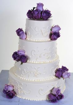W813 – White On White – With Color   Pastry Palace Las Vegas Cakes