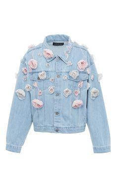 Floral denim jacket by Anouki